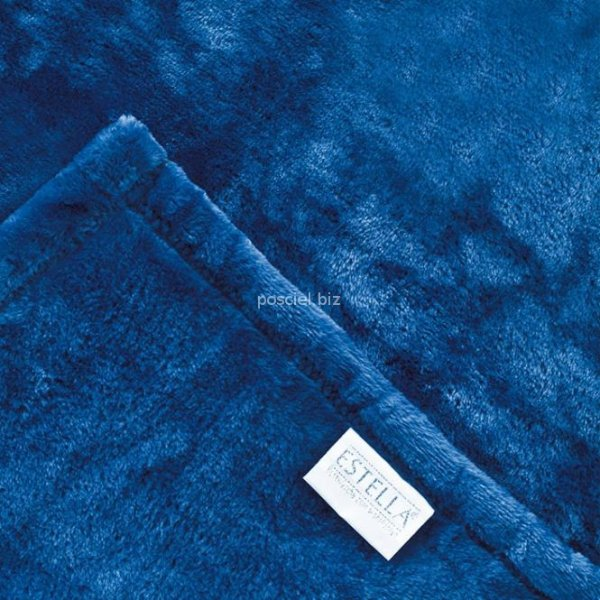 Estella koc z mikrofibry niebieski 150x200