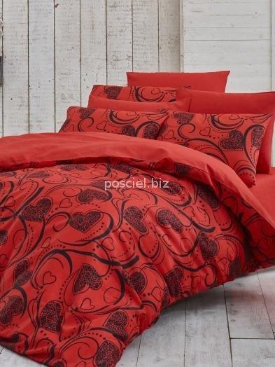 Kupon pościel bawełniana Jarden red 200x220