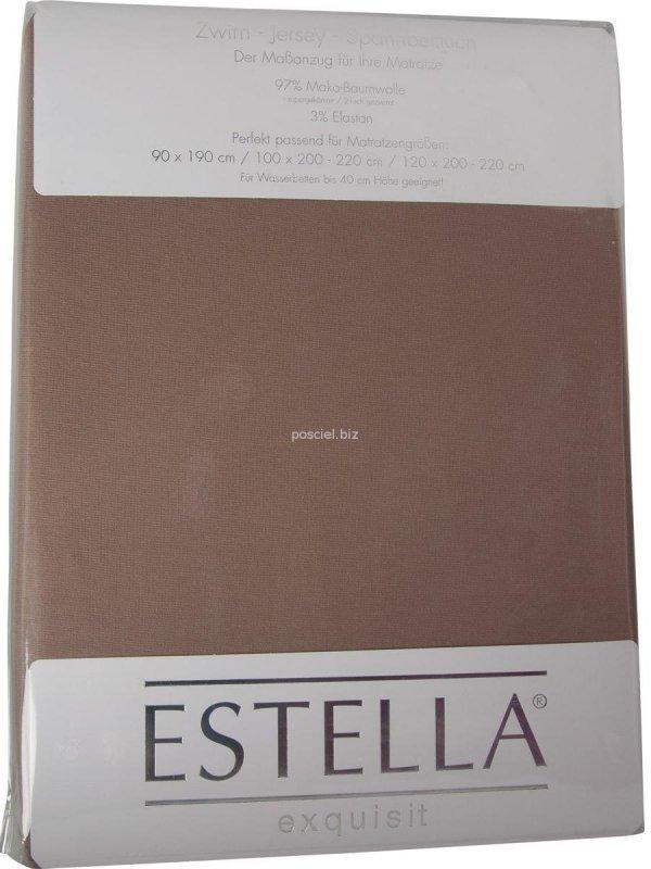 Prześcieradło zwirn-jersey z gumką Estella bahama