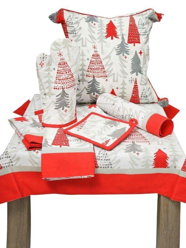 Artykuły dekoracyjne świąteczne czerwone choinki