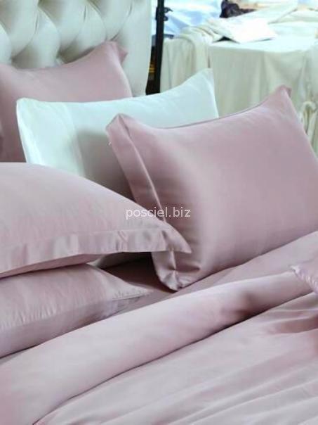 Malbery jedwabny zestaw pościeli pudrowy różowy 200x220