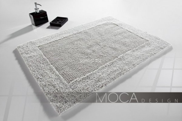 Dywanik łazienkowy MOCA Design srebrny 60x60, 60x100