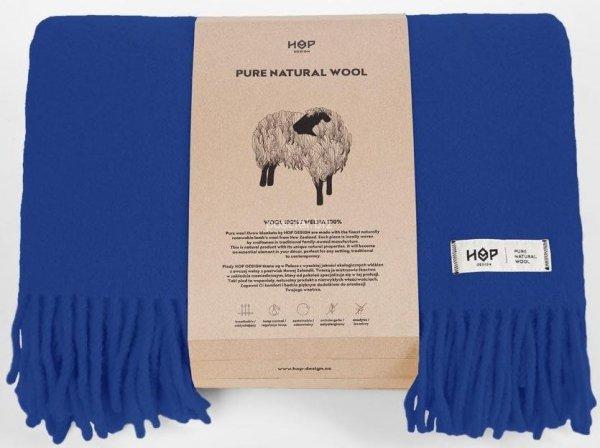 Hop koc wełniany Yeti kobalt 145x205