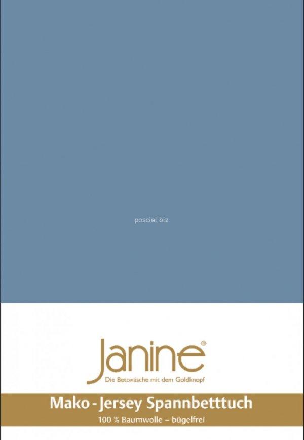 Janine prześcieradło jersey z gumką denimblau