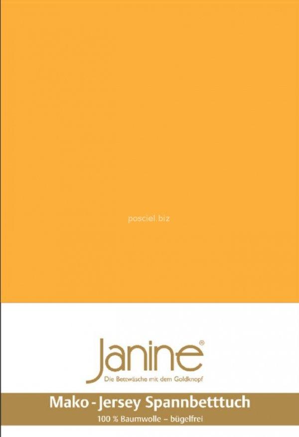 Janine prześcieradło jersey z gumką sonnengelb