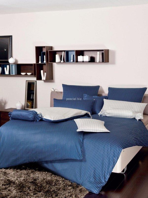 Janine  mako-satyna Classic blau w paski 3936 135x200