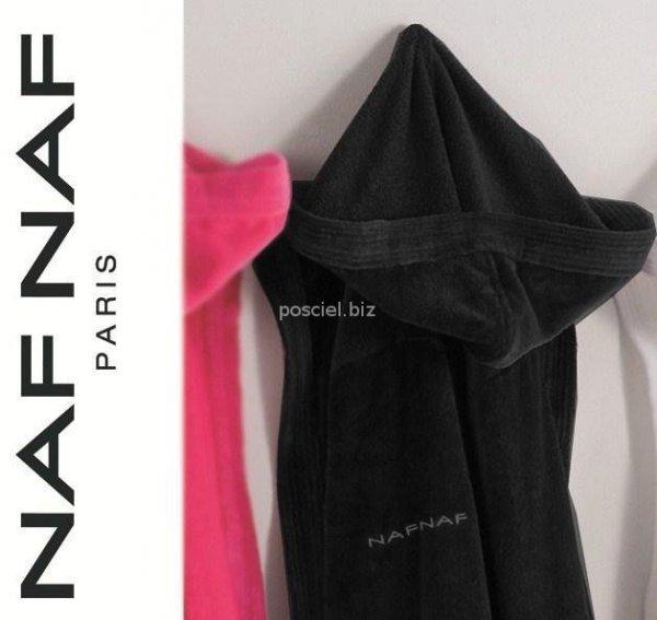 Elegancki szlafrok unisex Naf Naf czarny L, XL