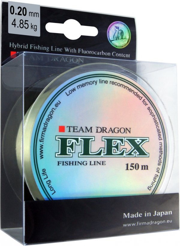 Żyłka TEAM DRAGON FLEX 150 m jasnozielona 0.30 mm/9.90 kg