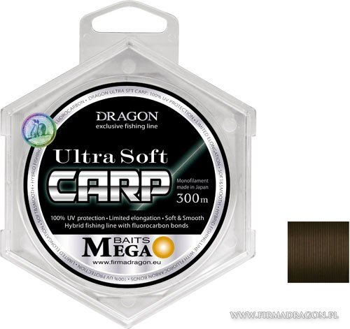 yłka DRAGON MegaBAITS Ultra Soft Carp 300 m / Momoi 0.30 mm/8.00 kg