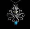 naszyjnik Kraken z serii: Bestiariusz, biżuteria magiczna i gotycka