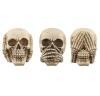 3 czaszki figurki Nic nie słyszę, nic nie mówię, nic nie widzę...