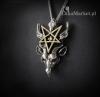 naszyjnik z pentagramem i głową kozła  - Bafomet - biżuteria gotycka i magiczna