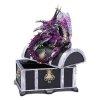 Kufer i Fioletowy Smok - szkatułka na biżuterię w stylu Gothic Fantasy