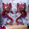 Smocza Modlitwa Dragons Devotion zestaw 2 kielichy dekoracyjne ze smokami w kształcie serca