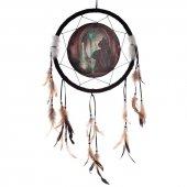 Kot i Absyntowa Wróżka - łapacz snów z obrazkiem Lisy Parker, 33cm