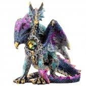 Niebieski Smok z Kryształem - figurka 9cm