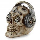 Czaszka Cyberpunk ze Słuchawkami - figurka dekoracyjna
