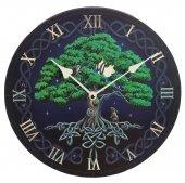 Drzewo Życia - zegar ścienny z nadrukiem i celtyckim wzorem