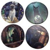 Magiczne Koty Lisy Parker - zestaw 4 podkładek pod kubki