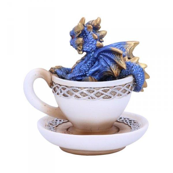 """figurka niebieski smok w filiżance od kawy """"Draguccino"""""""