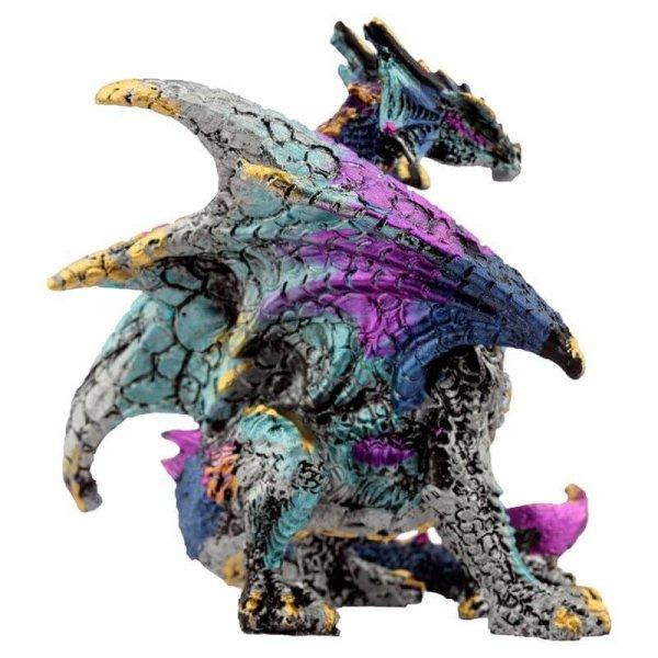 figurka w stylu fantasy - Niebieski Smok z Kryształem