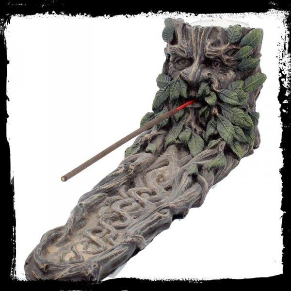 prezenty w stylu fantasy: podstawka do kadzidełek Green Man dziad Borowy Ent Pasterz Drzew