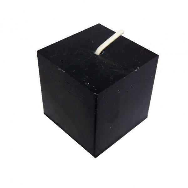 całkowicie czarna świeczka magiczna do rytuałów - kostka