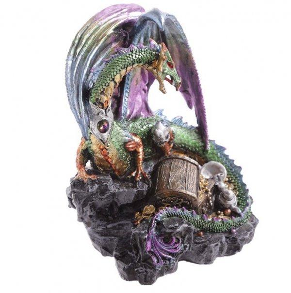 figurka fantasy - Smok Pilnujący Skarbu