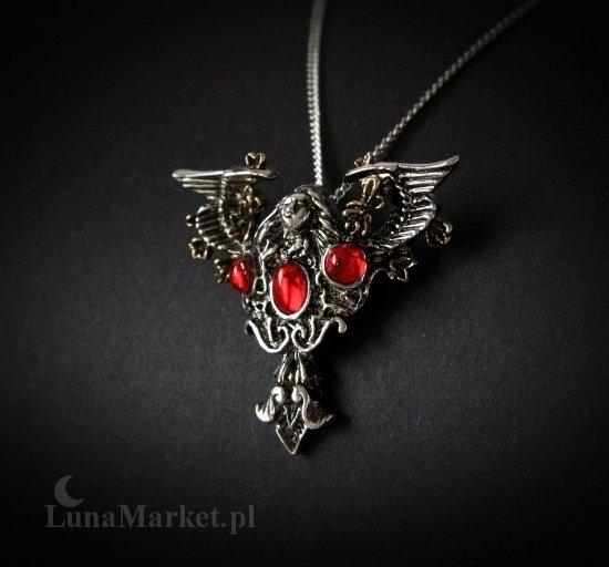 naszyjnik z gotyckim aniołem - amulet ochronny