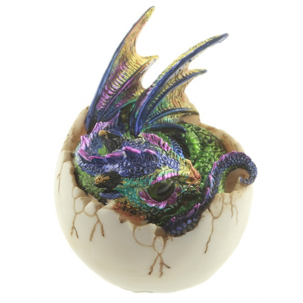 figurki i prezenty w stylu fantasy - figurka Jajo Smoka i Mały Kolorowy Smok