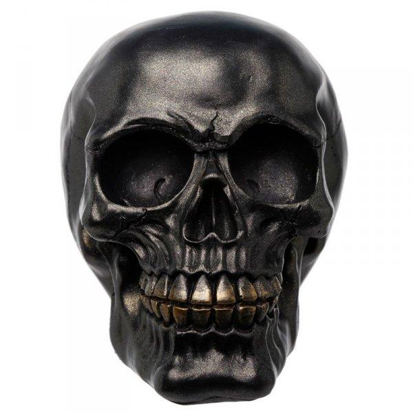 Czaszka Czarna - figurka dekoracyjna w kształcie czaszki, w czarnym kolorze