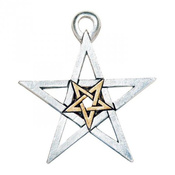 Podwójny Pentagram - naszyjnik z pentagramem magicznym