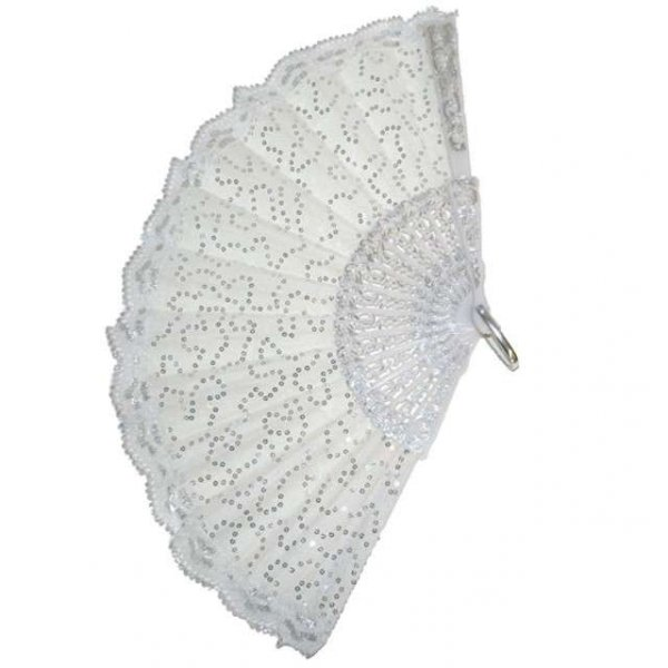 wachlarz materiałowy, kolor biały