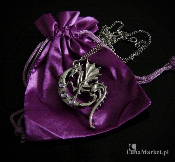 """naszyjnik ze smokiem i księżycem """"Luna Dragon"""" magiczna biżuteria"""