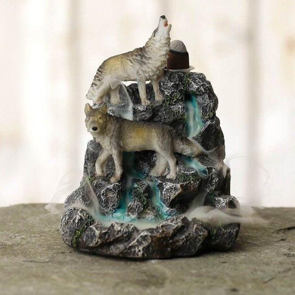 """Wilki na Skałach """"Wilcza góra"""" - kadzielniczka na kadzidła zwrotne, wodospad dymny"""