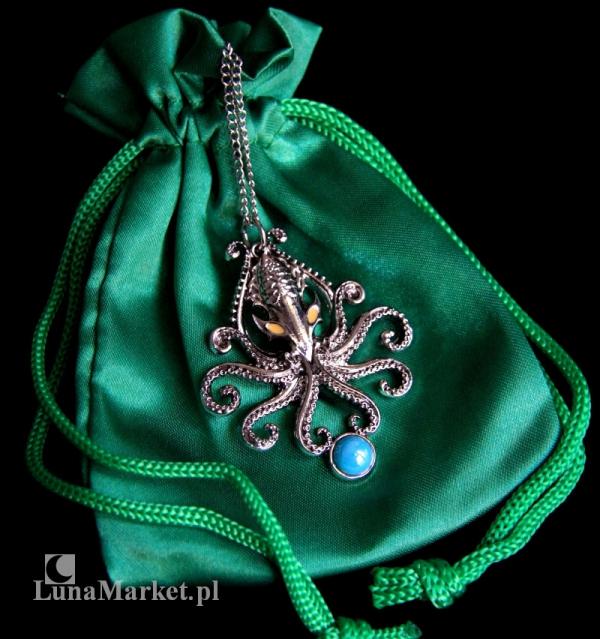 """naszyjnik """"Kraken"""" z serii: Bestiariusz, biżuteria magiczna i gotycka"""