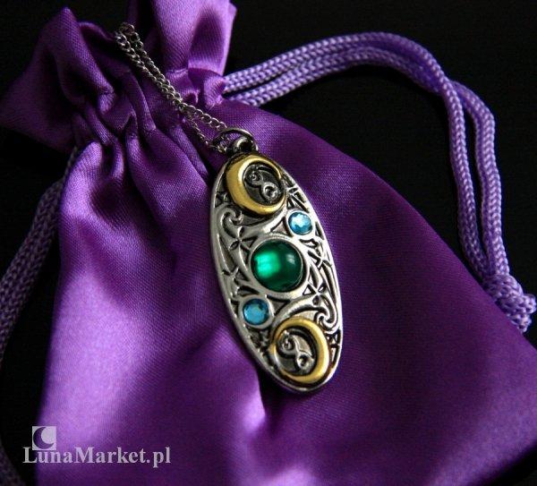 celtycka Księżycowa Tarcza - biżuteria magiczna, talizman Jasność Myślenia