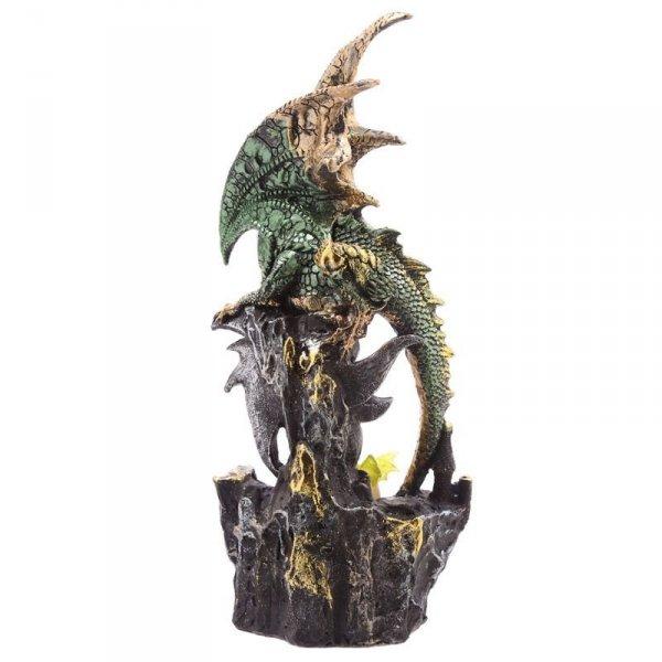 figurka w stylu fantasy - Zielona Smoczyca z Małym Smokiem