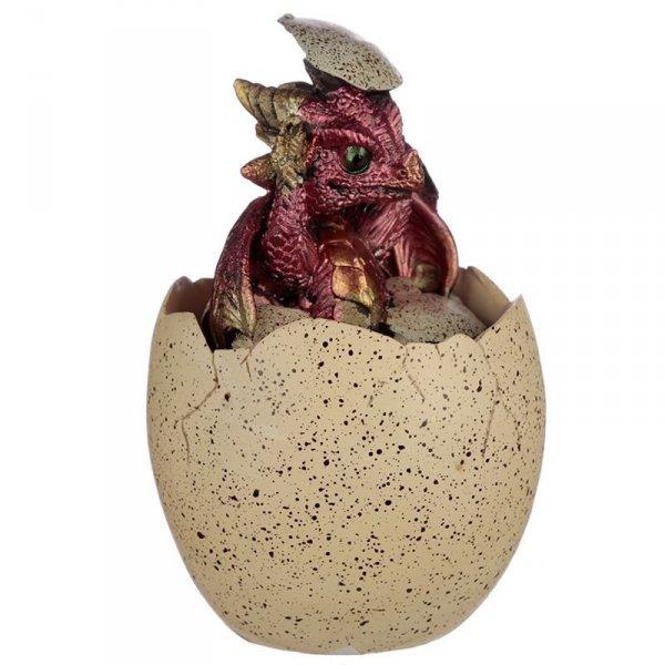 szkatułka w kształcie smoczego jaja z Czerwonym Smoczątkiem