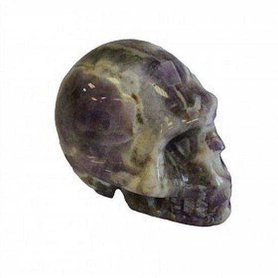 czaszka z naturalnego ametystu kamienna czacha ametystowa