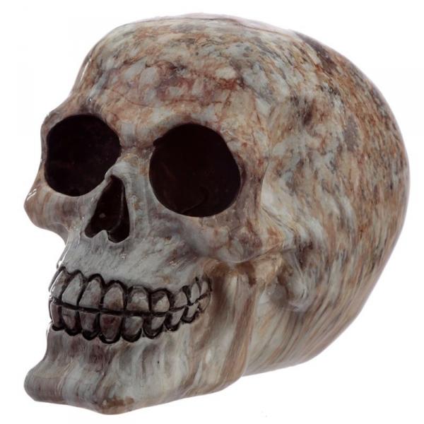 Marmurowa Czaszka - figurka dekoracyjna