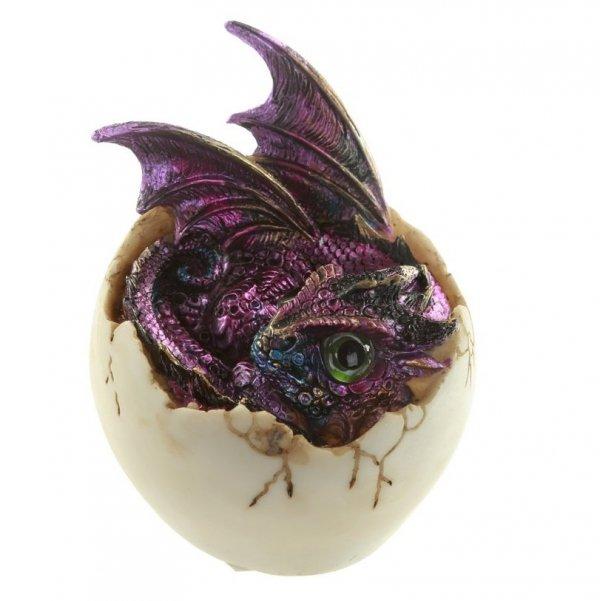 figurki i prezenty w stylu fantasy - Smocze jajo i fioletowe smoczątko