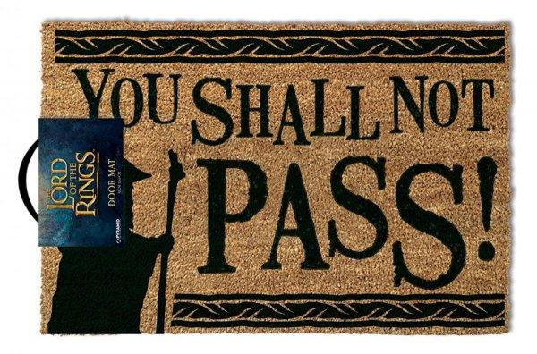 """Władca Pierścieni """"You Shall Not Pass!"""" - wycieraczka z napisem"""