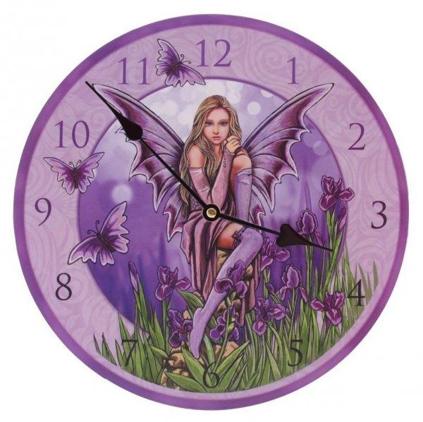 zegar z elfem - fioletowy elf - gadżety z elfami