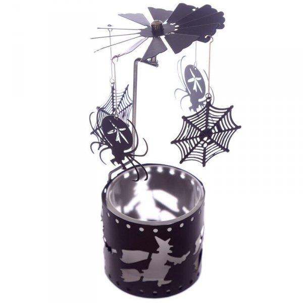świecznik Pająki i Pajęczyny - ruchoma karuzelka działająca na ciepło świeczki