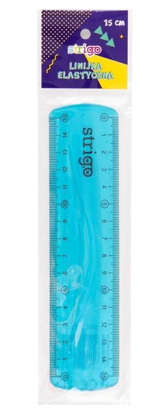 Linijka elastyczna 15 cm niebieska STRIGO
