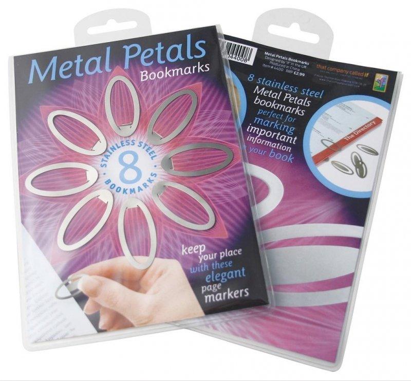 Metal Petals Bookmarks - zestaw 8 zakładek