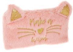 Piórnik saszetka pluszowy Cat