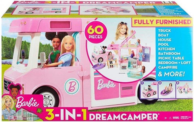 Barbie Umeblowany kamper 3w1
