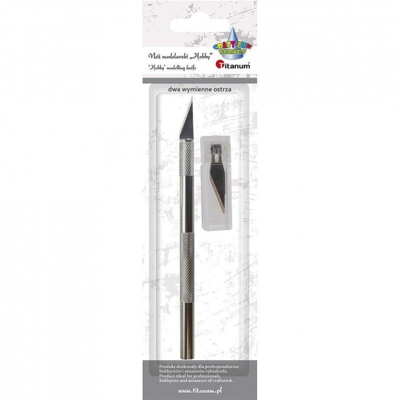 Nóż modelarski Hobby 146mm +2 wymienne ostrza